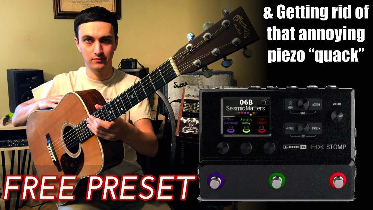 Using the HX Stomp to get a great Acoustic tone from your