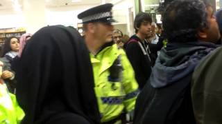19th July 2014 Marks & Spencers Manchester occupied by protest against Israeli genocide