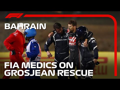2020 Bahrain Grand Prix: FIA Medics On Grosjean Rescue