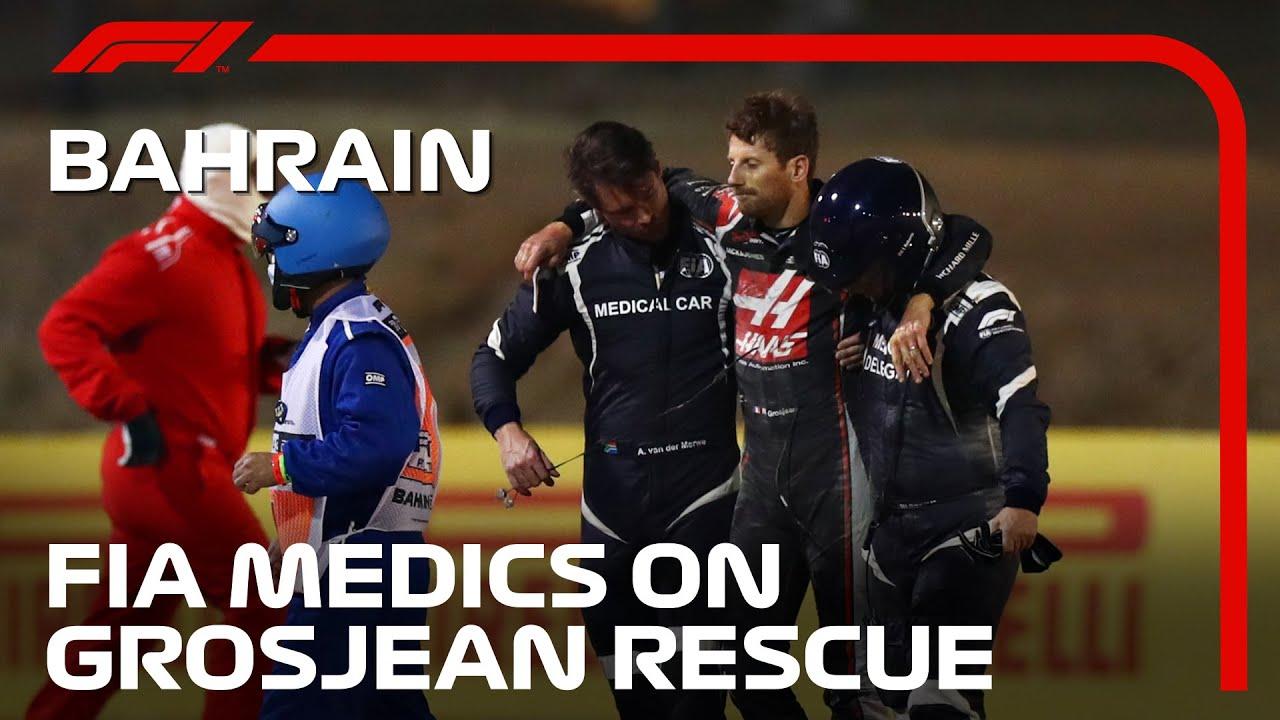 Download FIA Medical Car Team Describe Grosjean Rescue | 2020 Bahrain Grand Prix