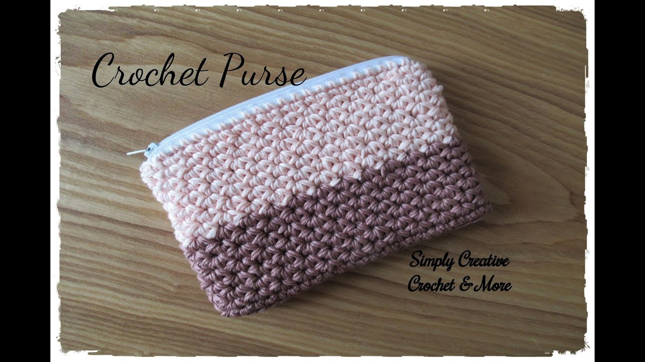 Crocheted Bag with Zipper
