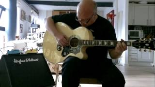 I love my new Epiphone EJ-200 CE/N electro-acoustic guitar!