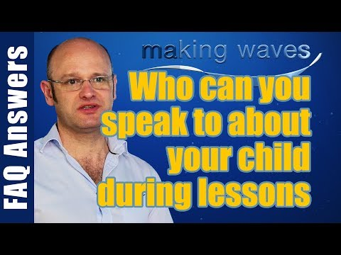 Making Waves Swimming Lessons East Kilbride Glasgow -  Who can you speak to during lessons