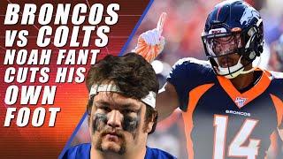 Broncos vs Colts: Noah Fant Cuts Foot