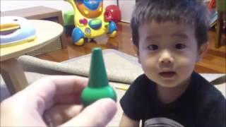 1歳10か月の男の子に色の名前を憶えさせようとしたときの動画です。 ...