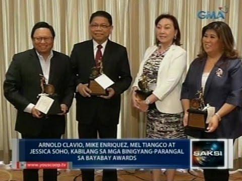 Saksi: Arnold Clavio, Mike Enriquez, Mel Tiangco at Jessica Soho, binigyang parangal