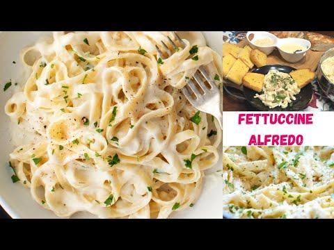 Olive Garden Famous Fettuccine Alfredo ~ Indian Family Life In America ~ Italian Dinner Recipe