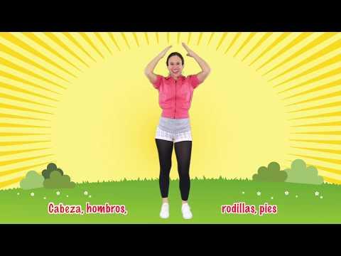Head, Shoulders, Knees & Toes in Spanish - by Native Speaker | Cabeza, Hombros, Rodillas y Pies