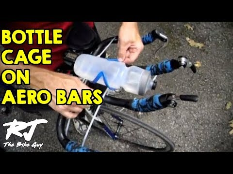How To Mount Horizontal Water Bottle Cage Between Aerobars