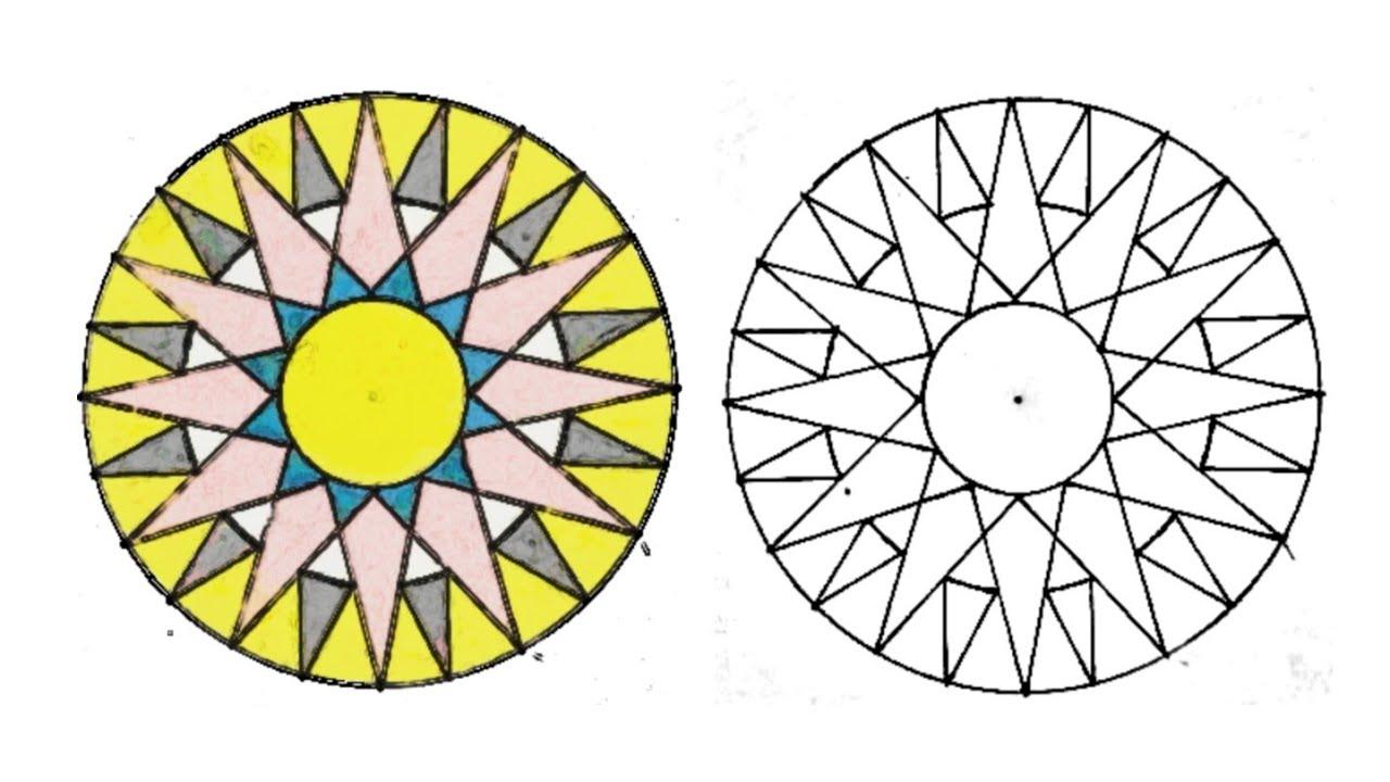 حرف ابداعية ١٩ زخرفة لا نهائية زخرفة سهلة وبسيطة زخارف اسلامية هندسية Islamic Geometric Youtube