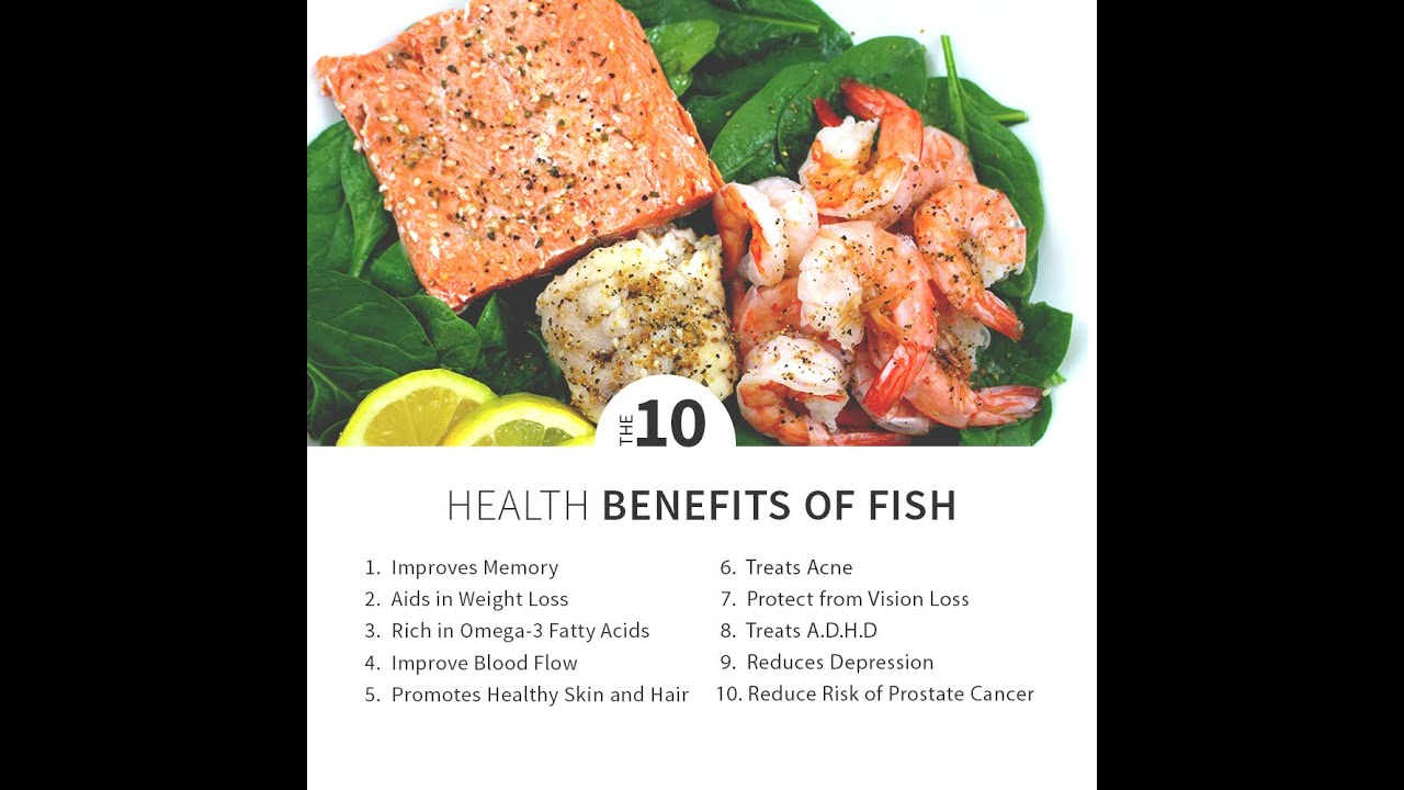 Top 10 health benefits of eating seafood seafish youtube for What is the best fish to eat