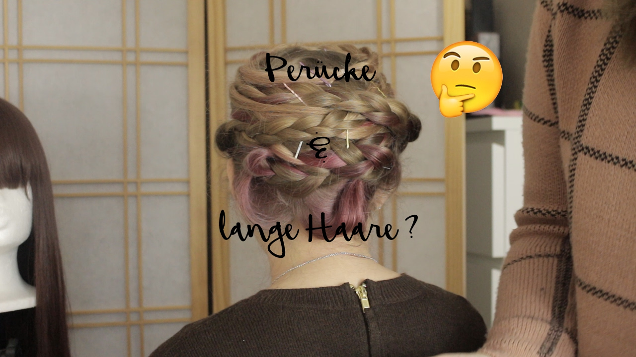 Lange haare unter kurzer perucke