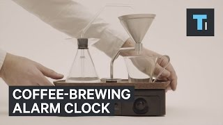 Coffee-brewing alarm clock