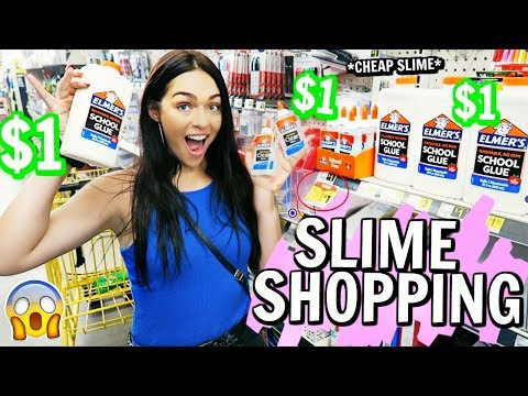 SLIME SUPPLIES SHOPPING AT THE DOLLAR STORE!! (i bought everything and spent $240)