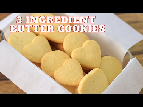 3-Ingredient Butter Cookies Recipe