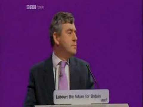 Gordon Brown sings A-ha