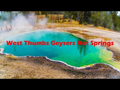Yellowstone National Park Wyoming: West Thumbs Geysers Basin and hot springs