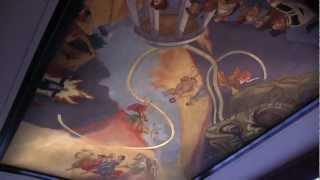 Fresco Mural on Ceiling at COMMA - City of Morganton Municipal Auditorium