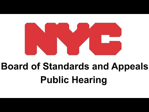 NYC Board of Standards and Appeals December 12, 2017 Public Hearing