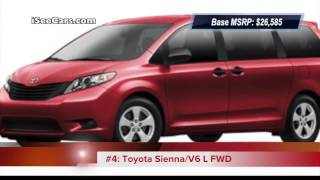 Top 10 Cheapest 7-Seater Cars (2013 Models) SUVs, Minivans and Crossovers