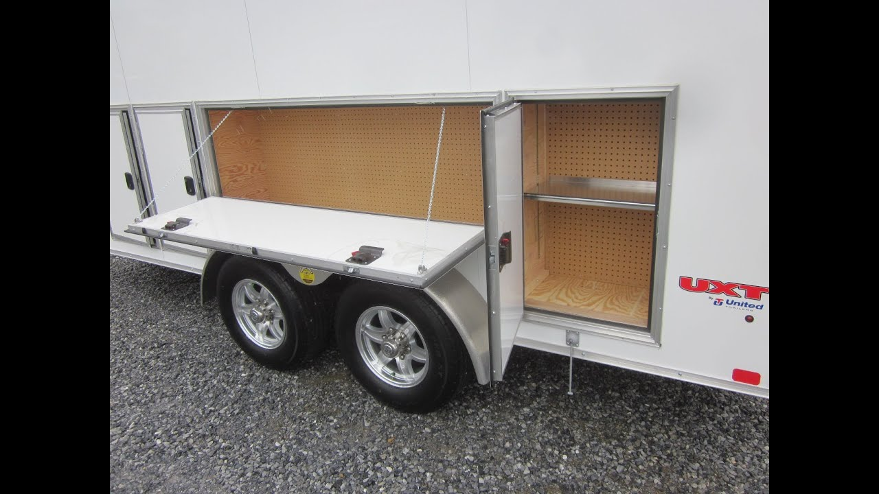Cabinets For Cargo Trailers 16 Contractor Trailer W Ladder Racks Tool Cabinets Youtube