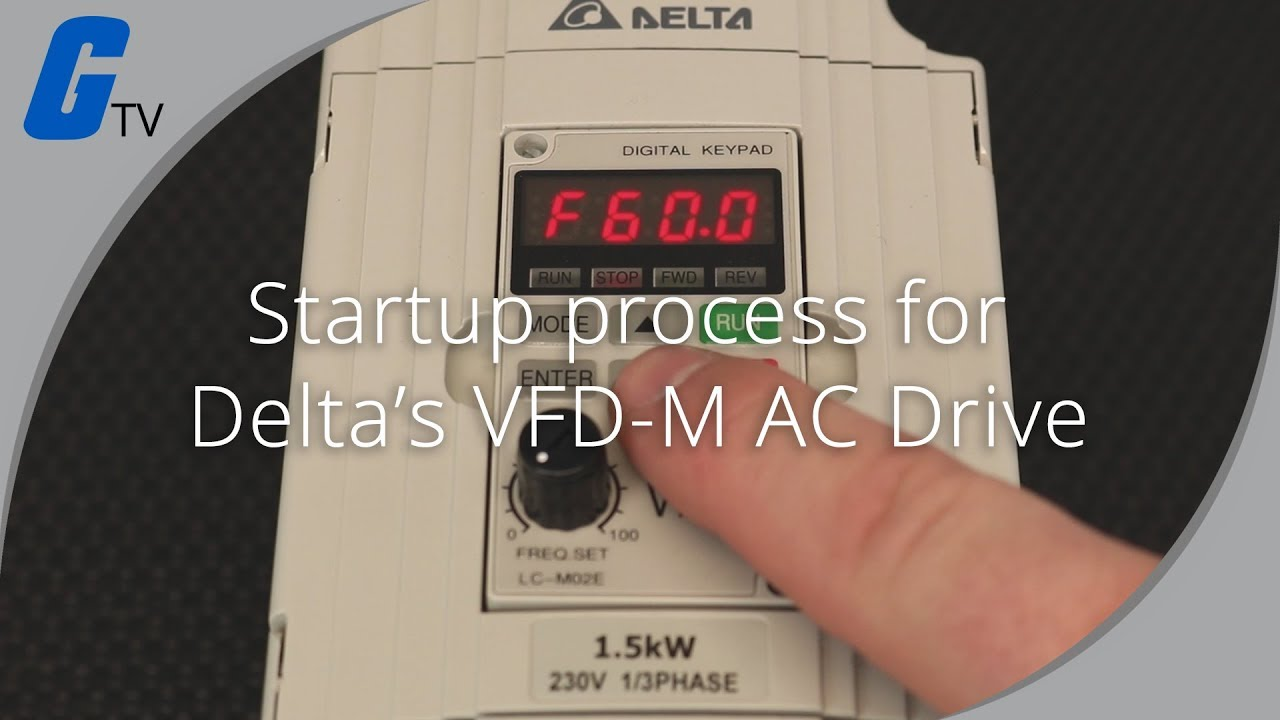 Startup Process on Delta's VFD-M Series AC Drive on