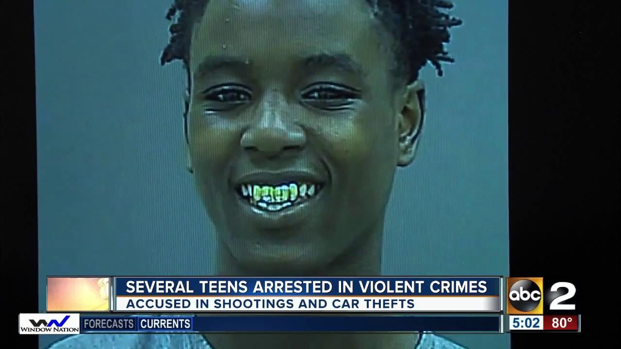 Several Teens Arrested In Various Violent Crimes