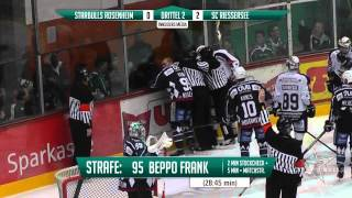 DEL2: 14.11.2014 - Starbulls Rosenheim vs. SC Riessersee 1:4 (incl. Szene zur Matchstrafe von Frank)