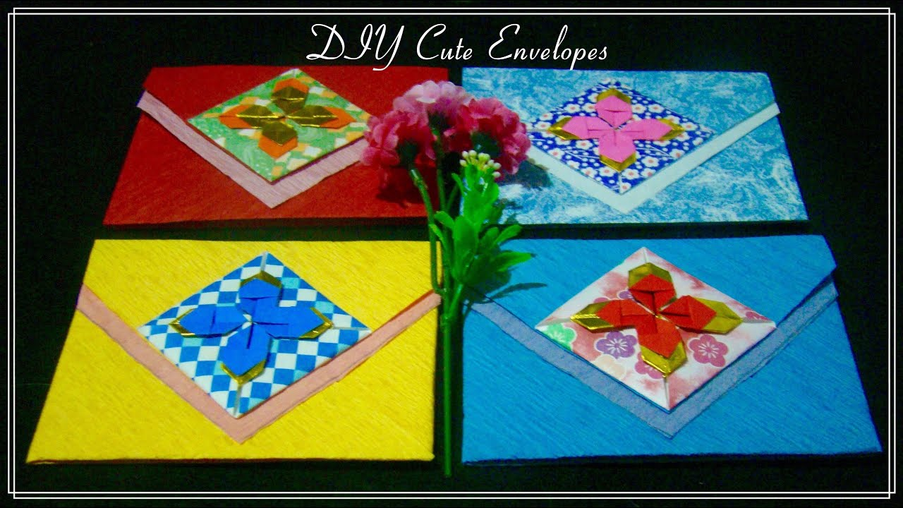 Papercraft Origami Maniacs 207: Cute Envelope 1/ Sobre Decorado 1
