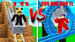 1TL VS 999,999,999TL HIZ TRENİ. Minecraft Ladybug ve Catnoir