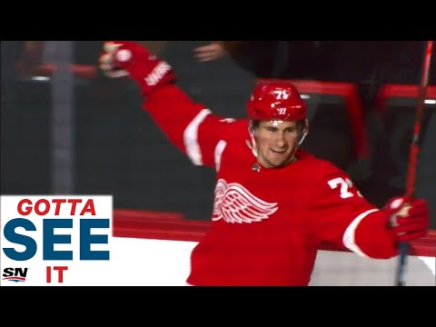 GOTTA SEE IT: Dylan Larkin Brings The Red Wings Crowd To Their Feet With A Filthy Goal