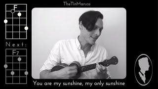 You are My Sunshine - Ukulele Play-Along (Chords and Lyrics)