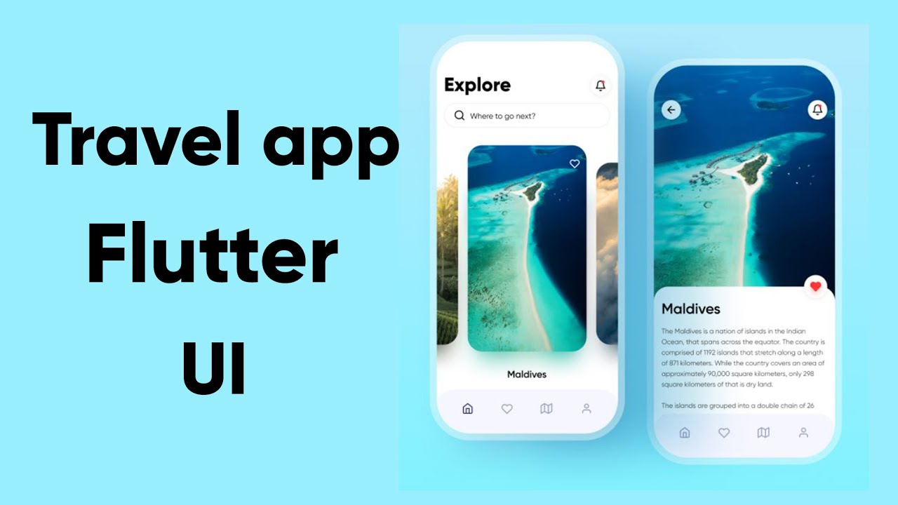 Flutter Travel app UI | Speed Code
