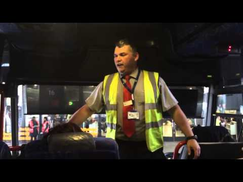 The National Express driver who says Hello to passengers in 25 languages.