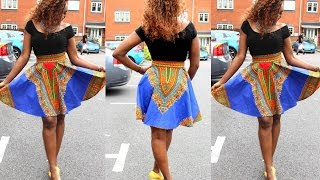 HOW TO MAKE A ROUND ( SCATTER) ANKARA SKIRT