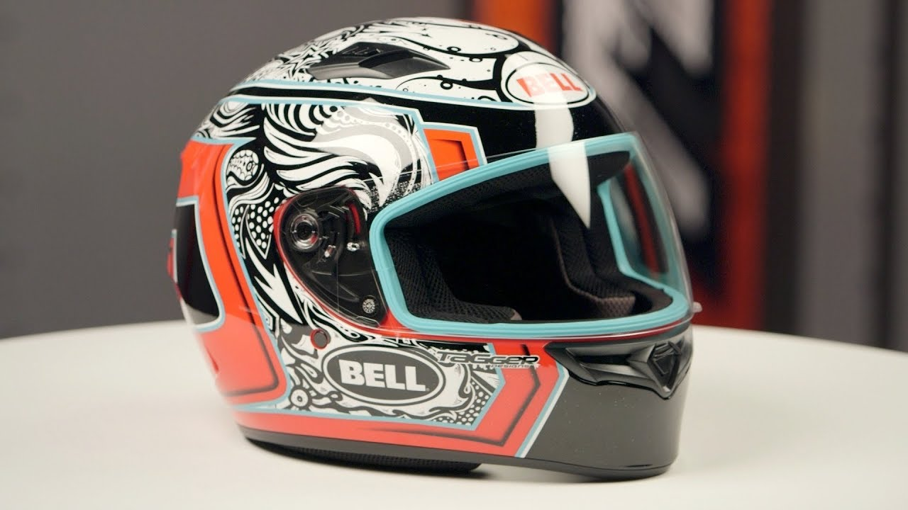 a9dc6592 bell qualifier tagger splice helmet review at revzilla com youtube .