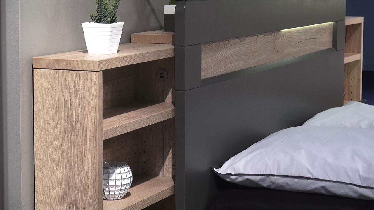 Chambre A Coucher Adulte mobilier chambre adulte à coucher - lit avec lumière led calypso - meubles  minet