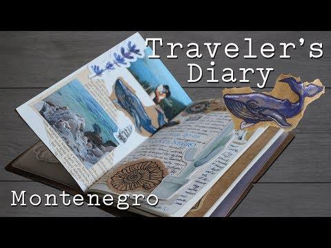 Traveler's Notebook Setup   Travel Journal   Útinapló Montenegro