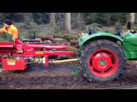 Holz Spalten Mit Growi Spalter Und Deutz 4005 Youtube