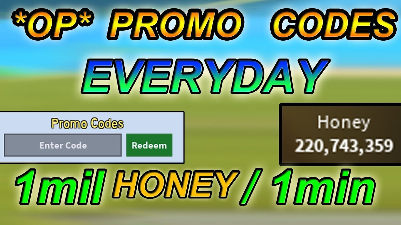 Op Promo Codes 1mil Honey 1min How To Always Know Them Bee Swarm Simulator Youtube