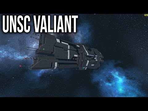 Space Engineers - UNSC Valiant Super Heavy Cruiser