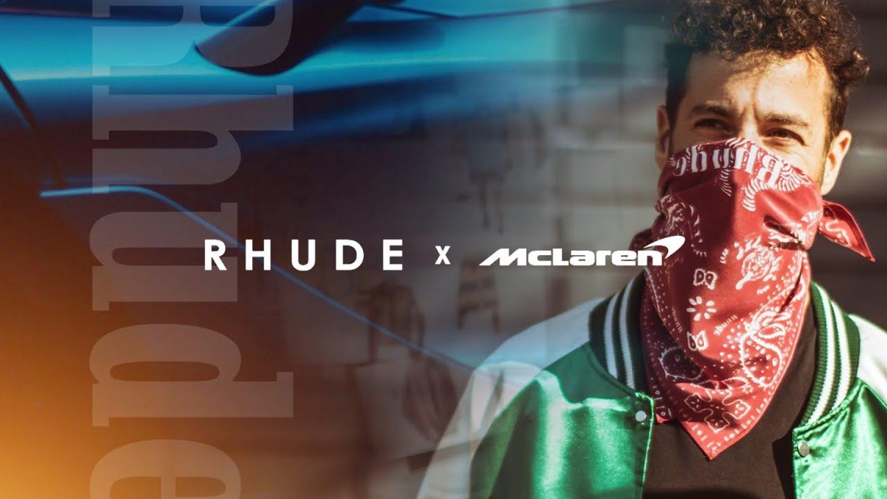 Daniel Ricciardo previews the R H U D E x McLaren collection | AW21