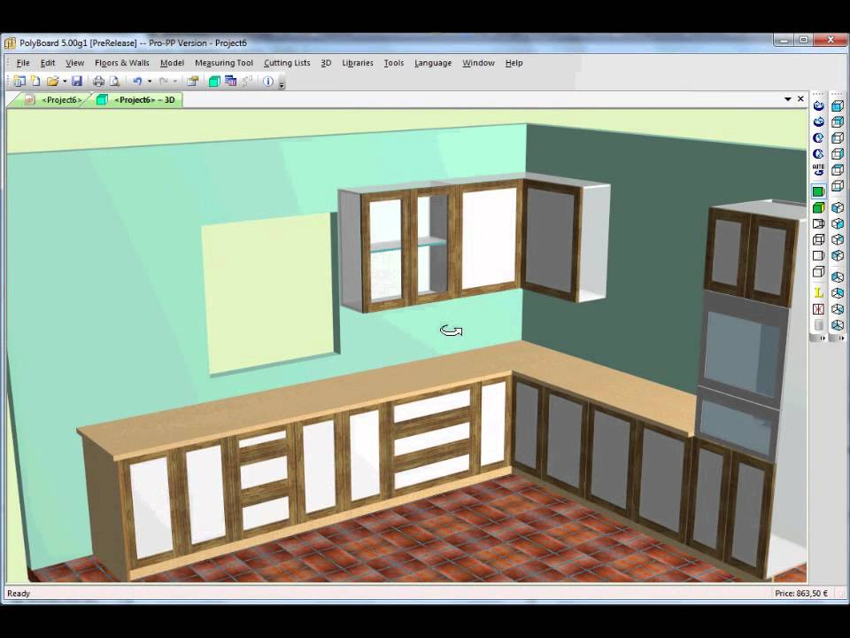 Kitchen Design using Cabinet Software - YouTube