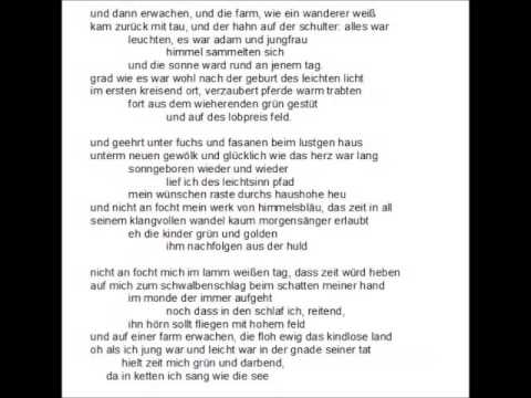 Fern hill - Dylan Thomas - Deutsch / German - YouTube