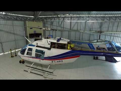 Programa 14  mostrando o mundo dos helicópteros. Cursos, manutenção, Ferrari dos céus