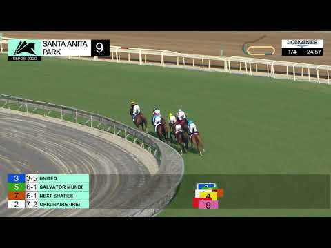 United Wins Race 9 On Saturday, September 26, 2020 At Santa Anita Park.