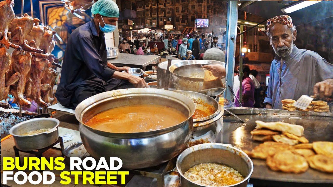 Burns Road Food Street, Karachi | Waheed Kabab Fry | Babu Bun Kabab,  Fish Fry etc. | Pakistani Food