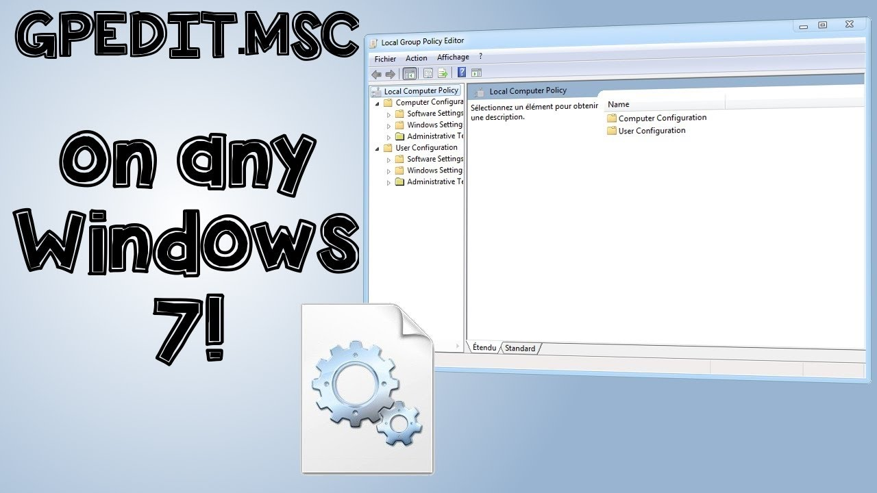 Windows 7 open local group policy editor - How To Enable Group Policy Gpedit Msc In Win 7 Hp Starter