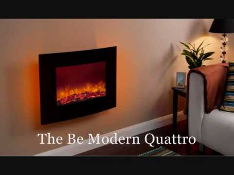 Be Modern Quattro Wall Mounted Electric Fire Youtube
