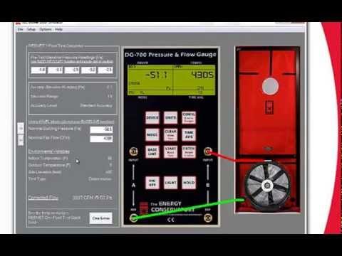 tec training tools blower door simulator and dg 700 connect youtube rh youtube com Blower Door Test Procedure retrotec blower door manual
